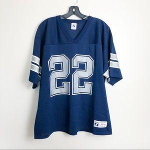 Dallas Cowboys 22 Emmitt Smith Logo 7 Jersey